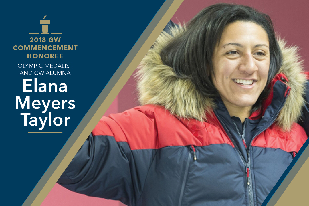 2018 GW Commencement Honoree Elana Meyers Taylor, Olympic Medalist and GW Alumna