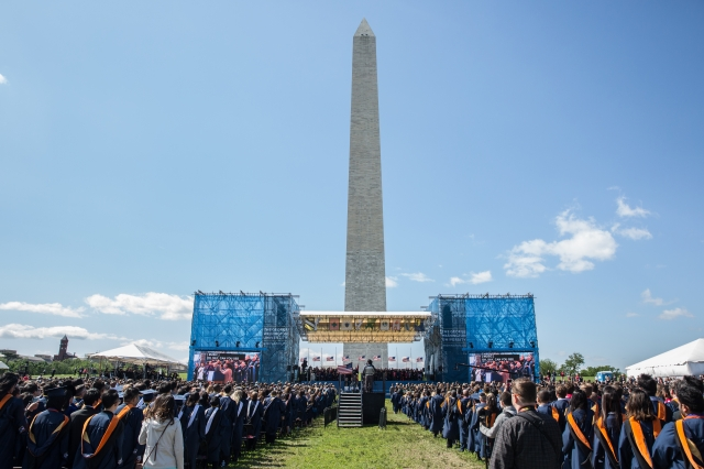 View of Commencement on the National Mall