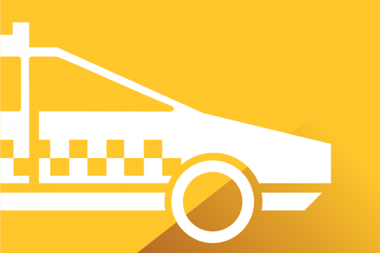 Icon of a taxi