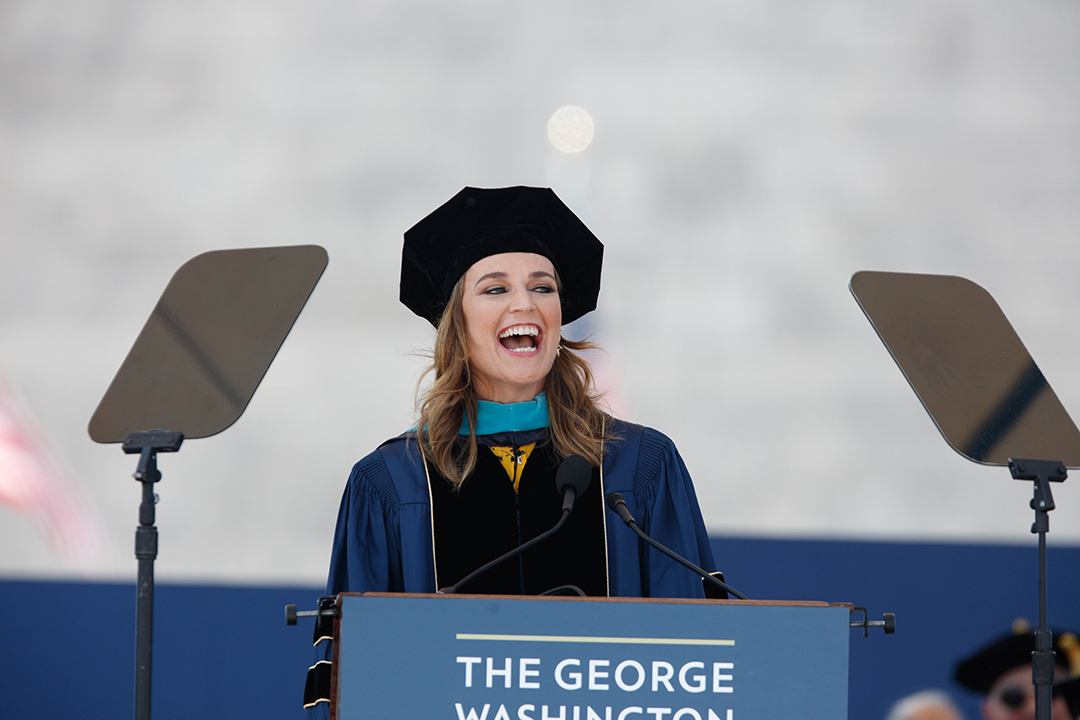 Savannah Guthrie delivering the 2019 Commencement Address