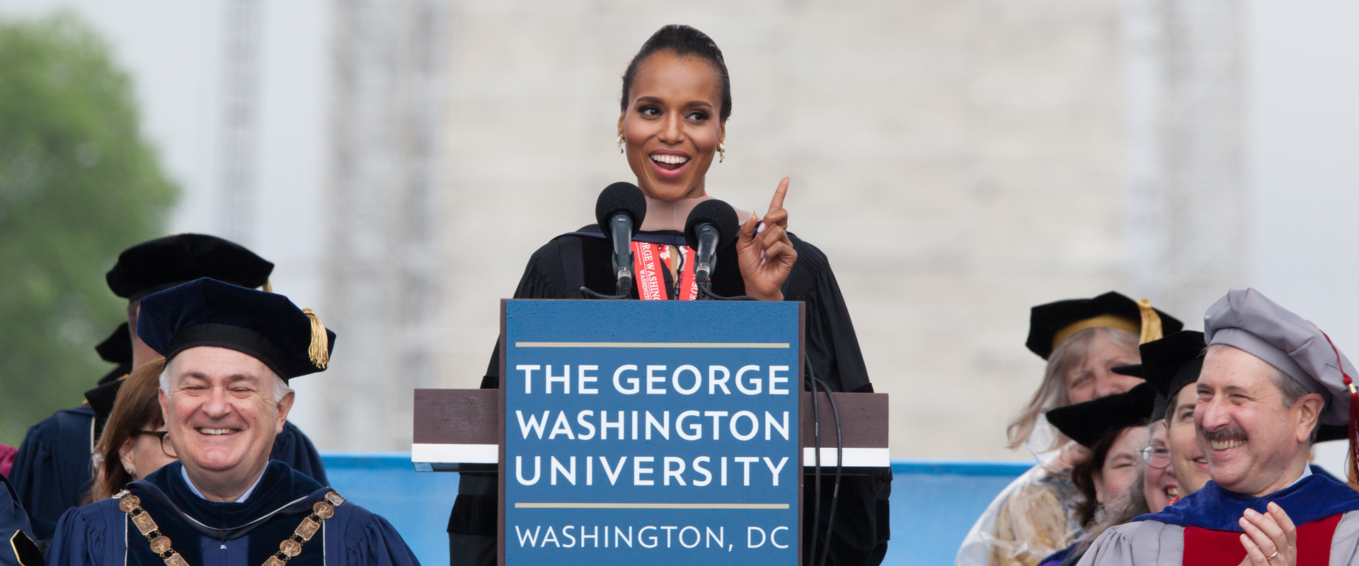 Kerry Washington delivering Commencement address in 2013