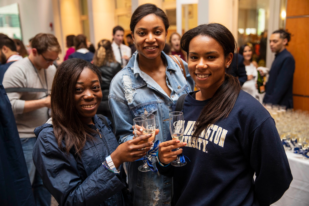 Graduates during the 2017 Senior Class Toast