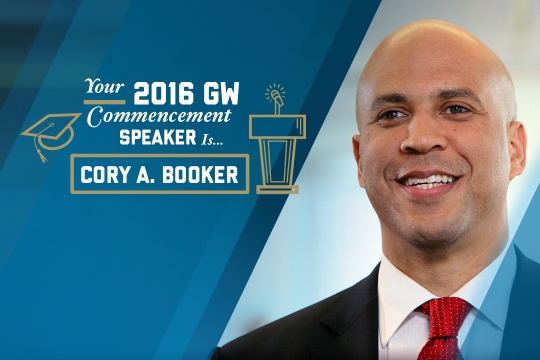 Senator Cory A. Booker is the 2016 Commencement speaker